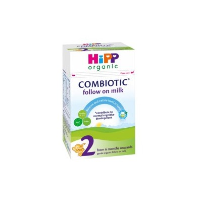 Hipp Organic Combiotic Formula Stage 2 Follow On Milk UK Version (800g) From 6 Months *** 3-Pack! ***