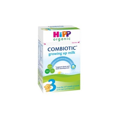 Hipp Organic Combiotic Formula Stage 3 Growing Up Milk UK Version (600g) From 12 Months *** 8-Pack! ***