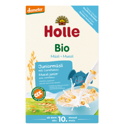 Holle Organic Junior Muesli Multigrain With Cornflakes *** 24 Pack! ***