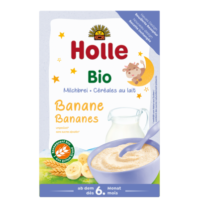 Holle Organic Milk Cereal With Bananas *** 12 Pack! ***