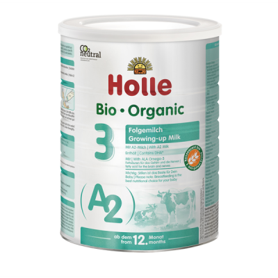 Holle Stage 3 Cow - A2 Organic Growing-up Formula (800g) 12+ months *** 12-Pack! ***